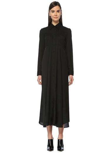 Nineminutes Uzun Kollu Gömlek Yaka Elbise